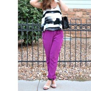 ZARA BASIC Purple Harem Pants / XS